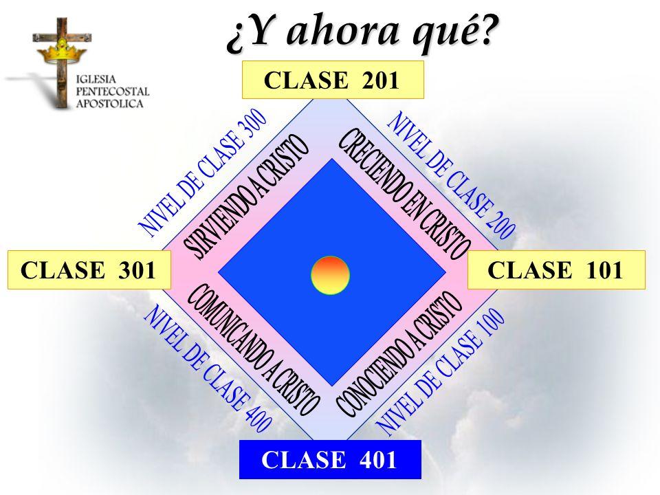 ¿Y ahora qué CLASE 201 CLASE 301 CLASE 101 CLASE 401