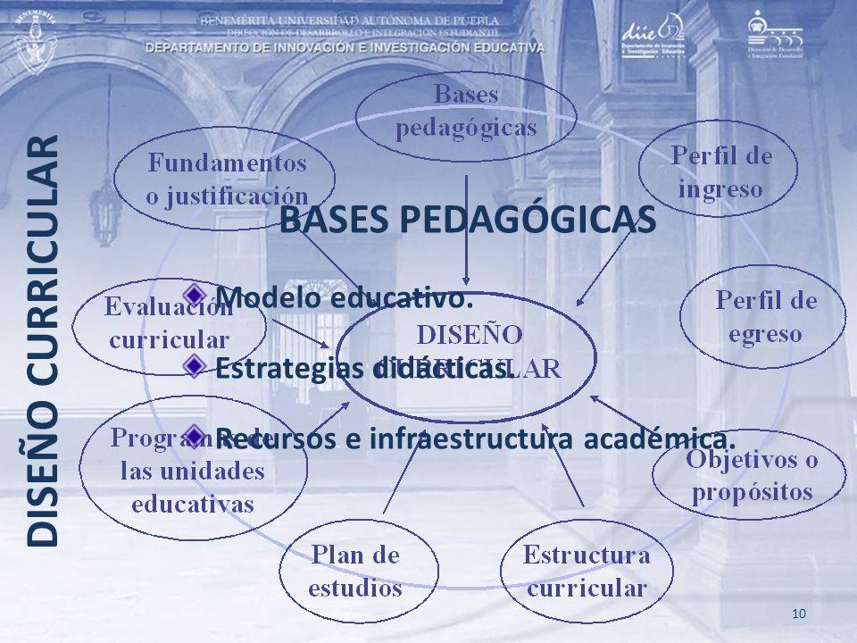 DISEÑO CURRICULAR BASES PEDAGÓGICAS Modelo educativo.