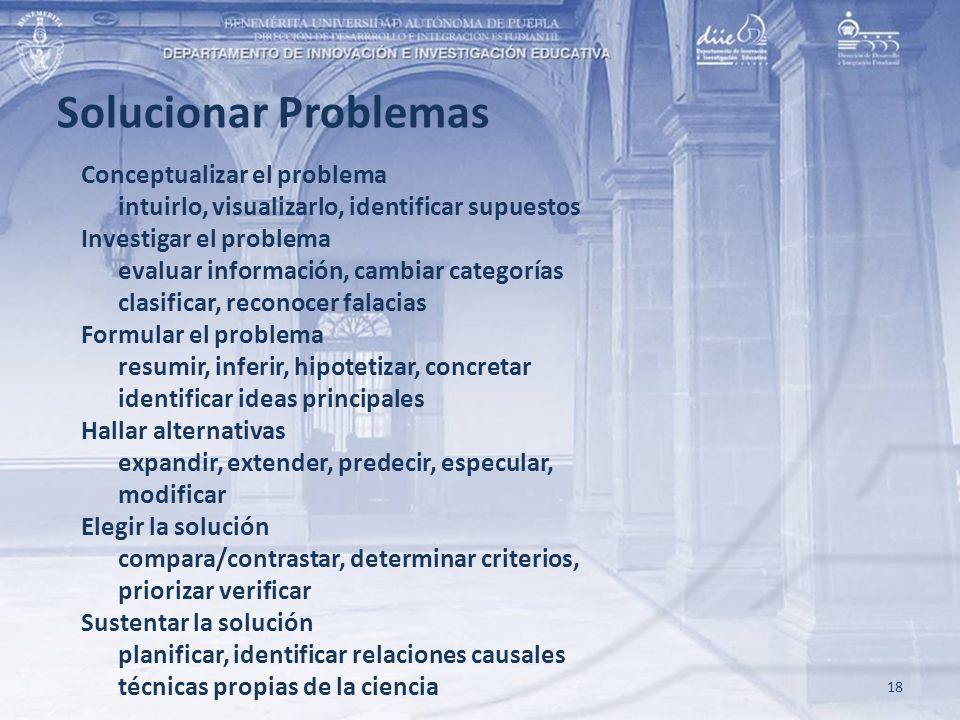Solucionar Problemas Conceptualizar el problema