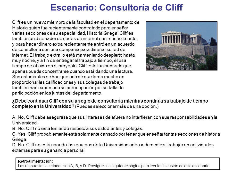 Escenario: Consultoría de Cliff