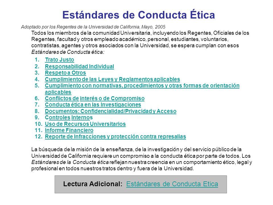 Estándares de Conducta Ética