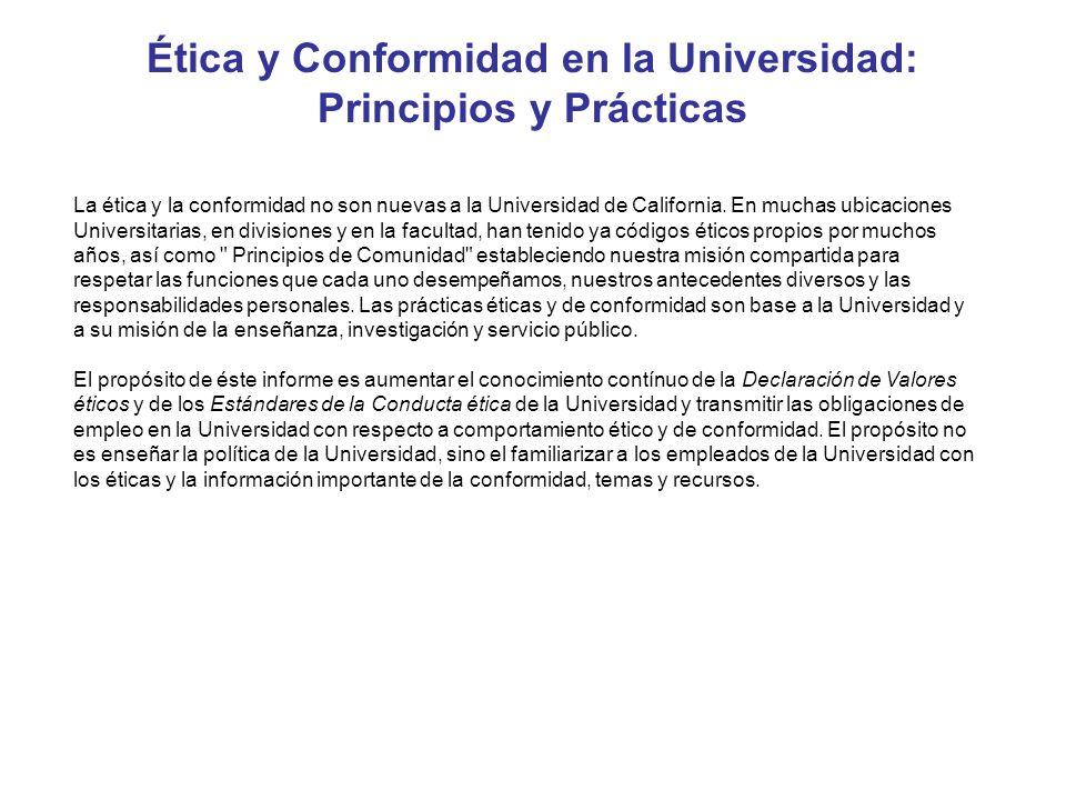 Ética y Conformidad en la Universidad: Principios y Prácticas