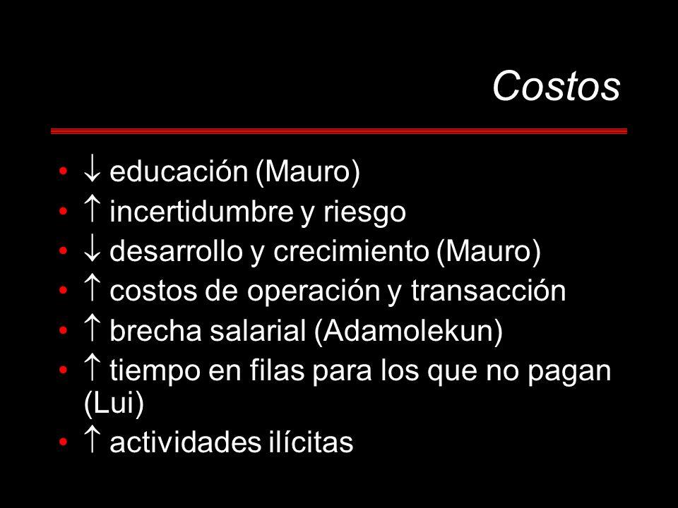 Costos  educación (Mauro)  incertidumbre y riesgo