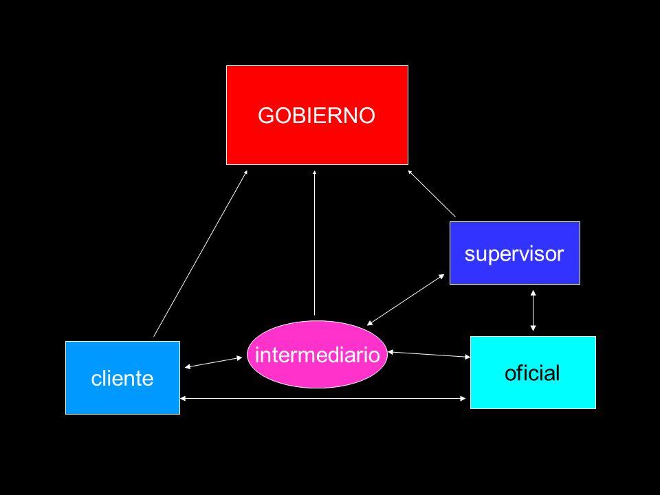 GOBIERNO supervisor intermediario oficial cliente