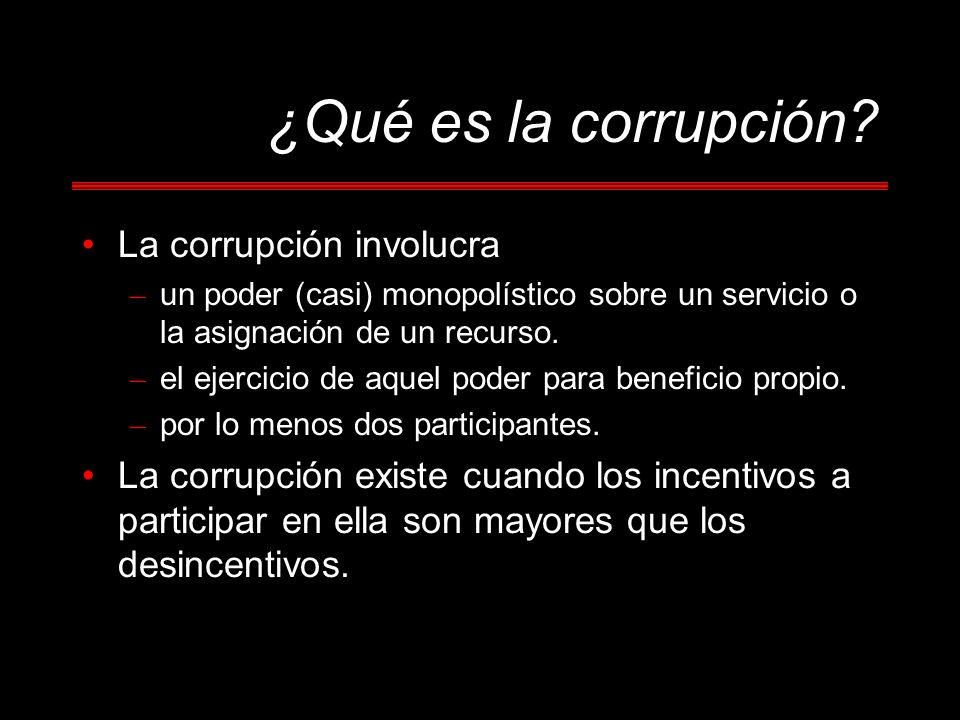 ¿Qué es la corrupción La corrupción involucra
