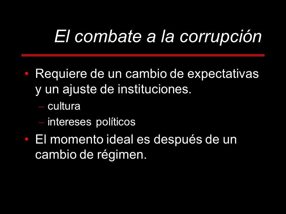 El combate a la corrupción