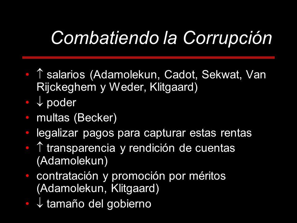 Combatiendo la Corrupción