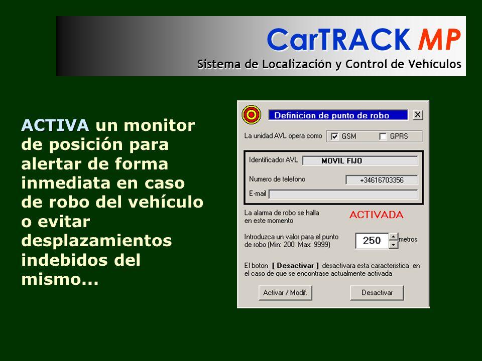 CarTRACK MP Sistema de Localización y Control de Vehículos