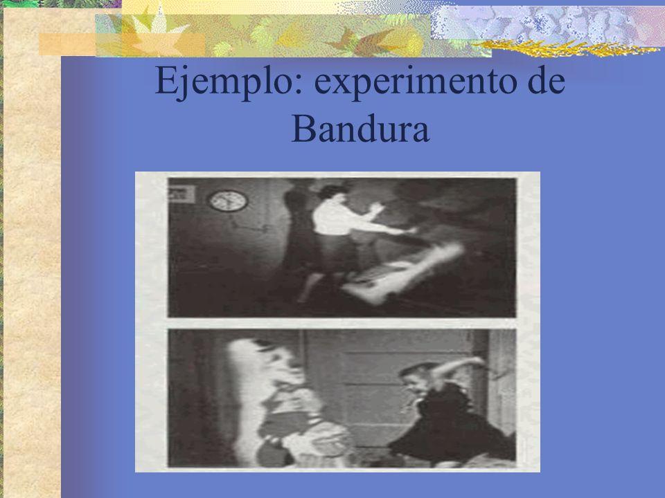 Ejemplo: experimento de Bandura
