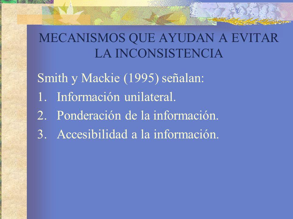 MECANISMOS QUE AYUDAN A EVITAR LA INCONSISTENCIA