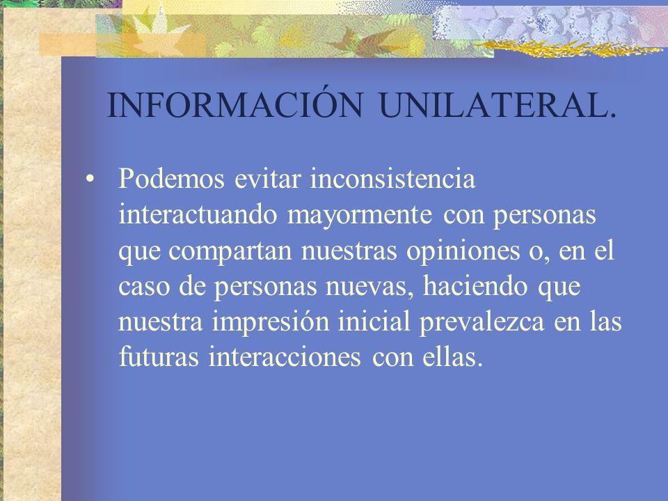 INFORMACIÓN UNILATERAL.