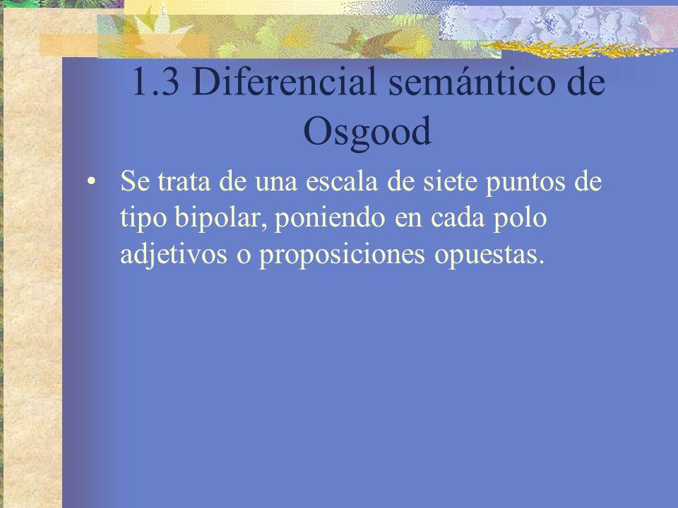 1.3 Diferencial semántico de Osgood