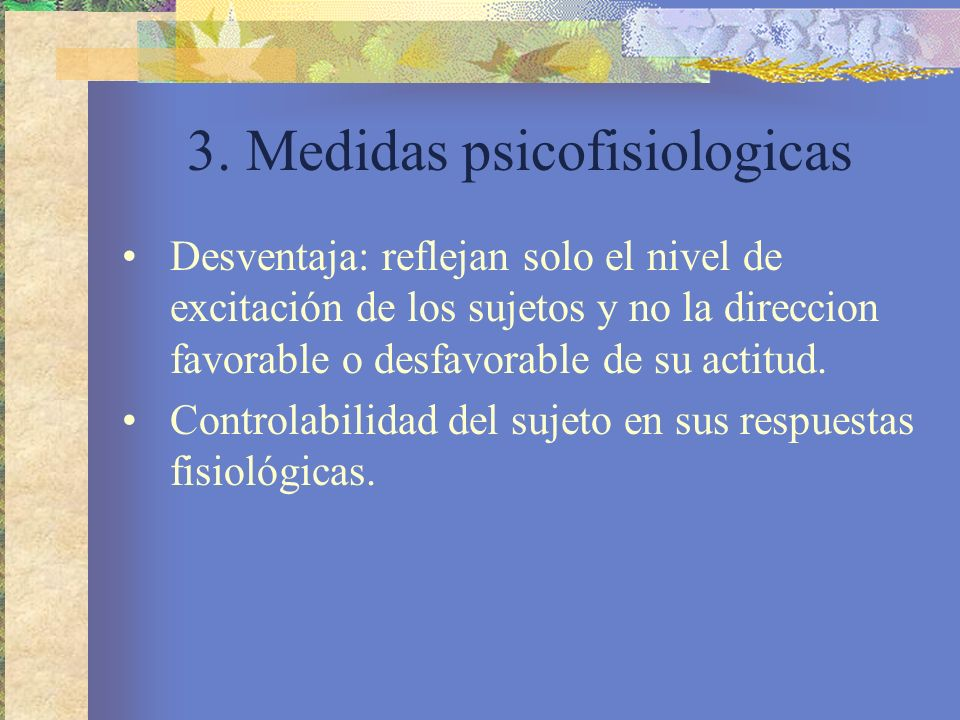 3. Medidas psicofisiologicas