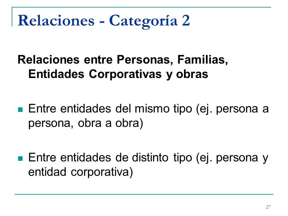 Relaciones - Categoría 2