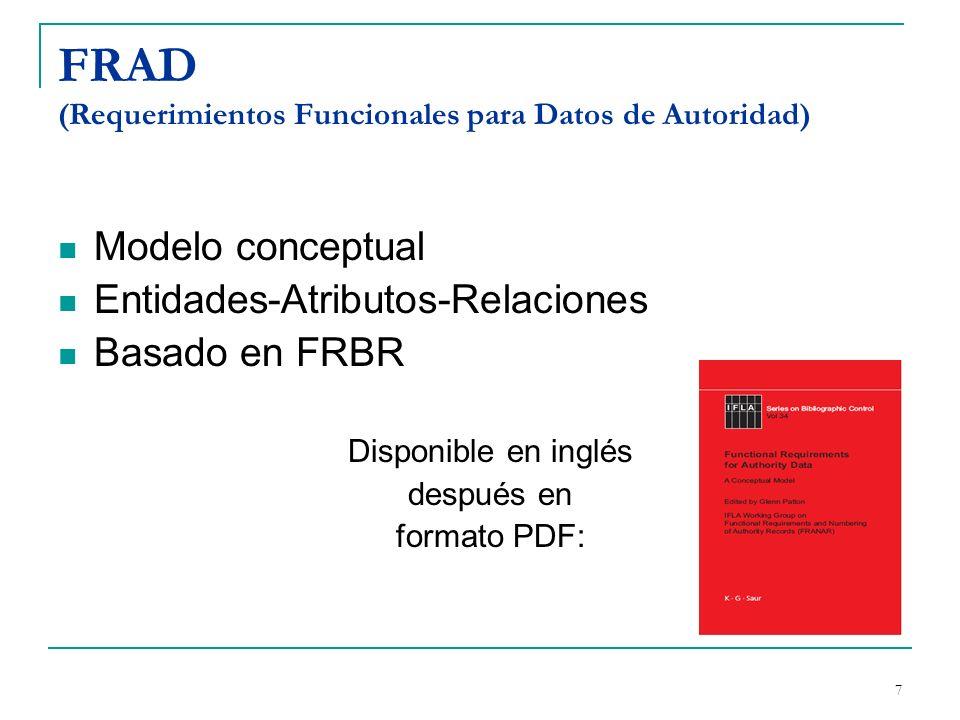 FRAD (Requerimientos Funcionales para Datos de Autoridad)