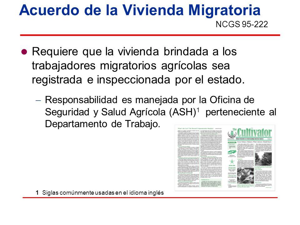 Acuerdo de la Vivienda Migratoria