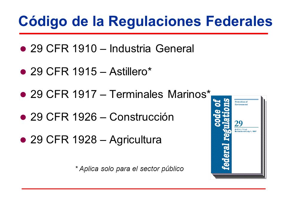 Código de la Regulaciones Federales