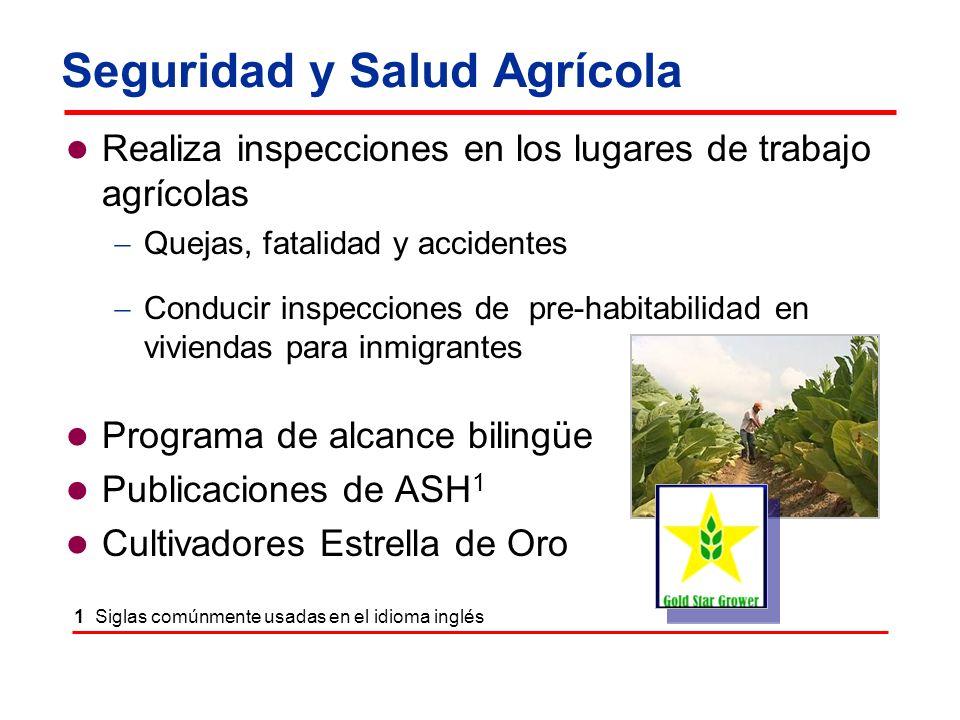 Seguridad y Salud Agrícola