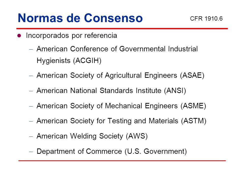 Normas de Consenso Incorporados por referencia