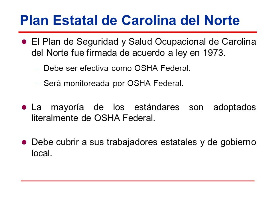 Plan Estatal de Carolina del Norte