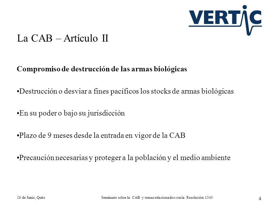 Seminario sobre la CAB y temas relacionados con la Resolución 1540