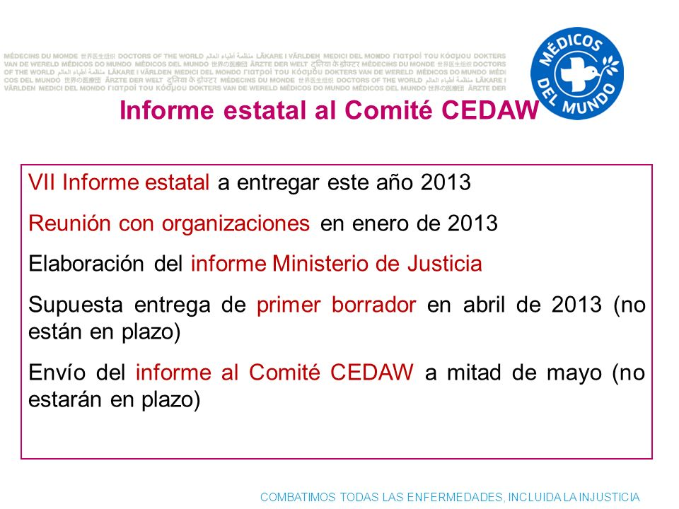 Informe estatal al Comité CEDAW