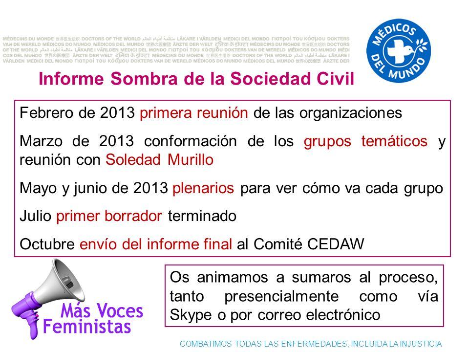 Informe Sombra de la Sociedad Civil