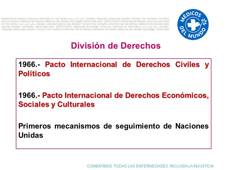 División de Derechos 1966.- Pacto Internacional de Derechos Civiles y Políticos.