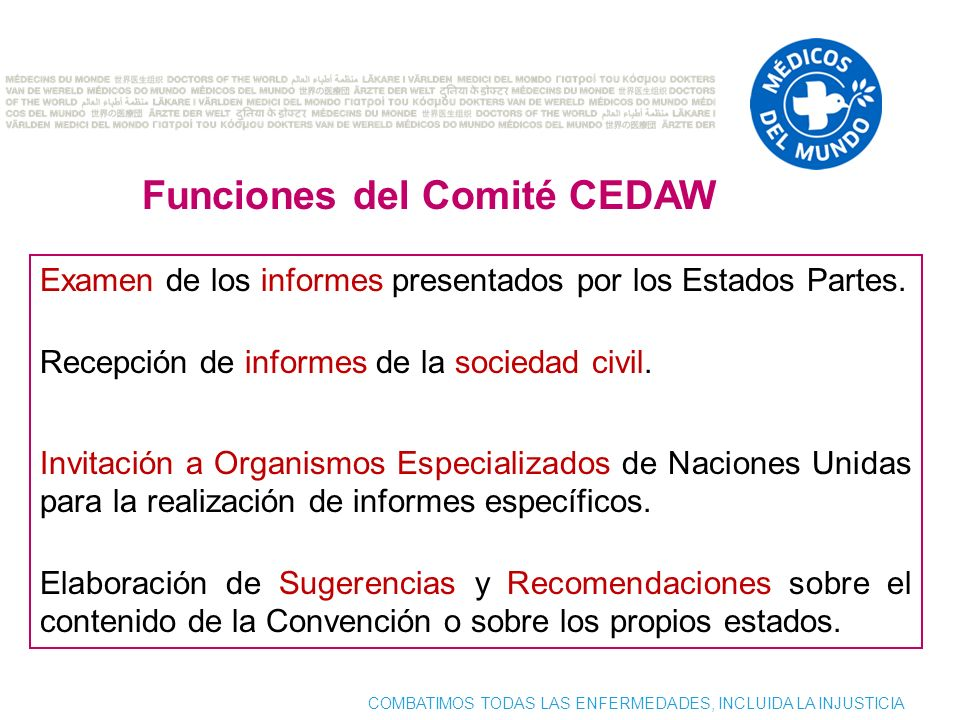Funciones del Comité CEDAW
