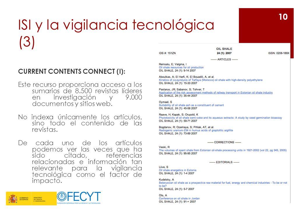 ISI y la vigilancia tecnológica (3)