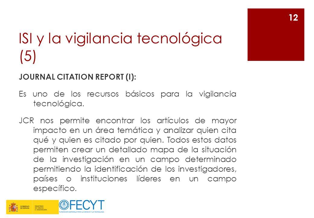 ISI y la vigilancia tecnológica (5)