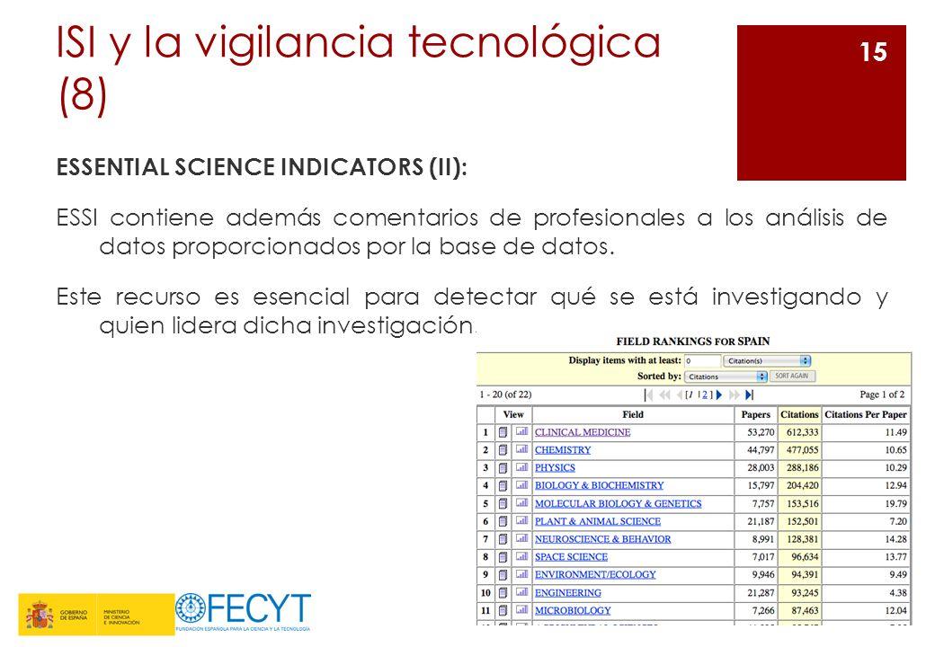 ISI y la vigilancia tecnológica (8)