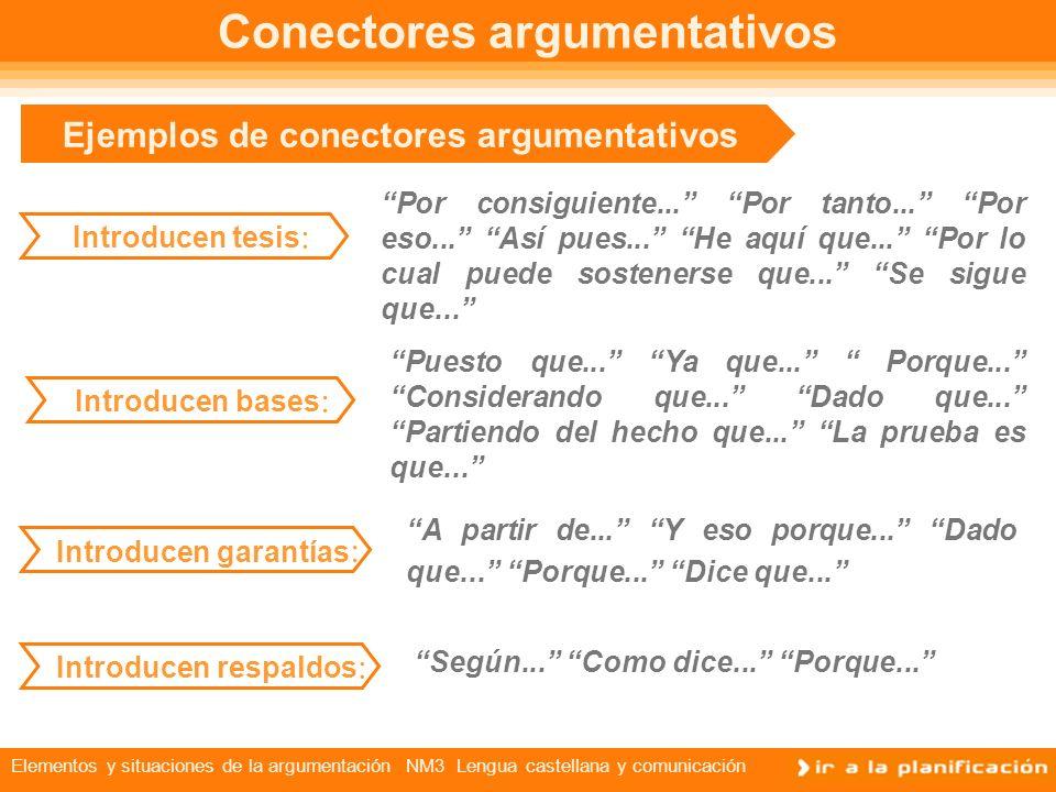 Conectores argumentativos