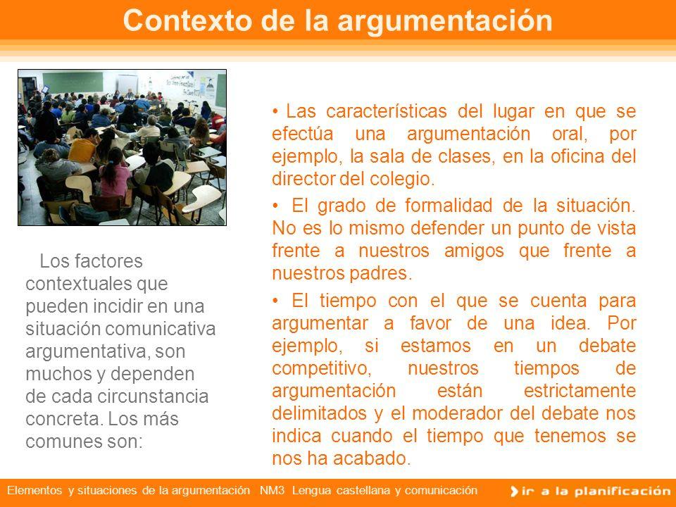 Contexto de la argumentación