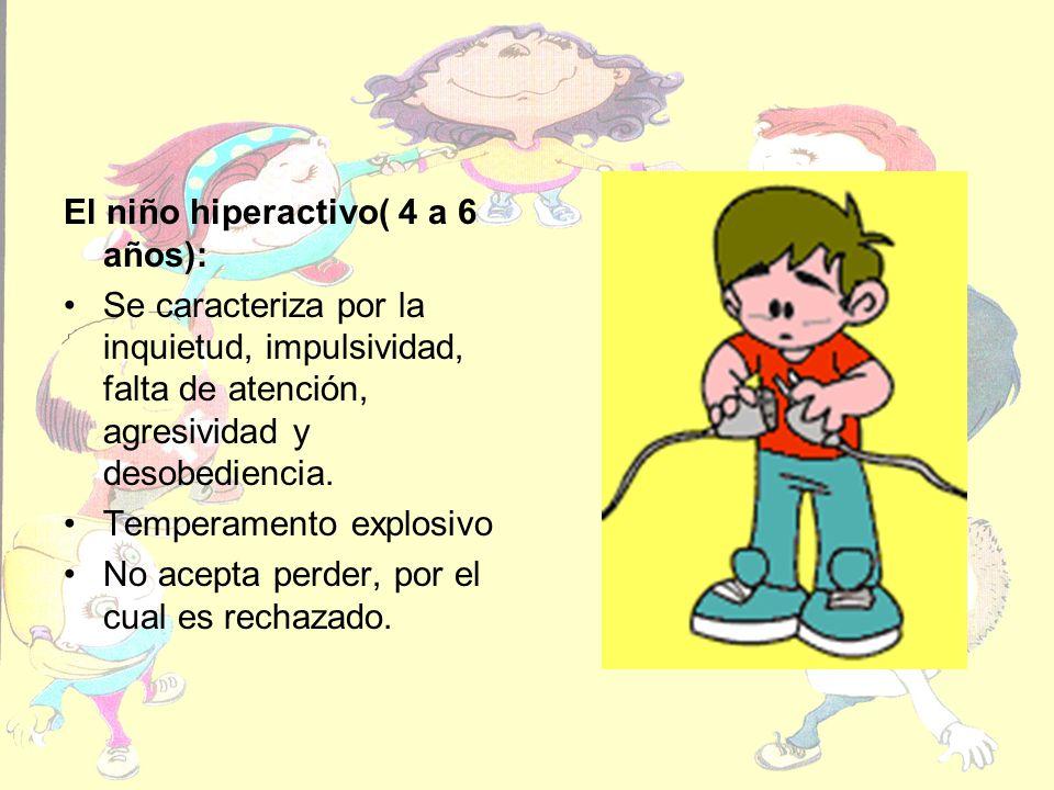 El niño hiperactivo( 4 a 6 años):