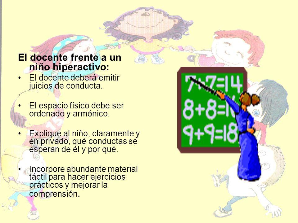 El docente frente a un niño hiperactivo: