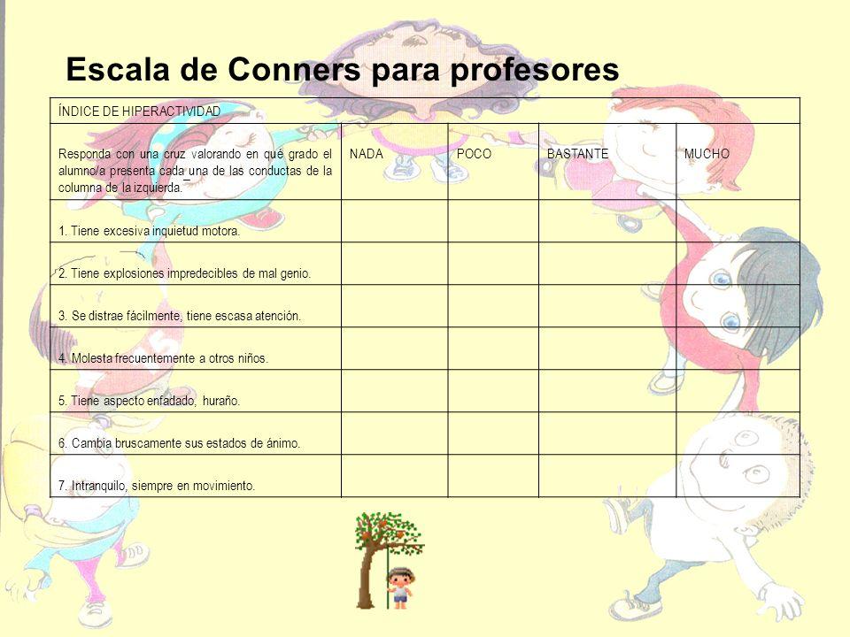 Escala de Conners para profesores