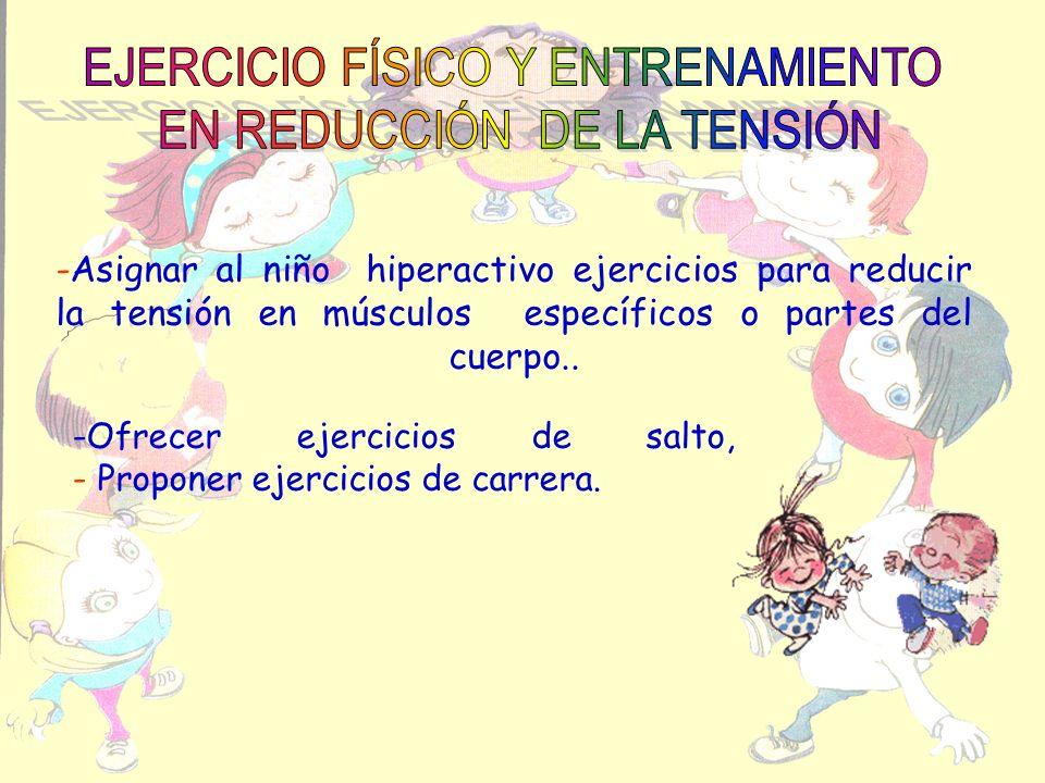EJERCICIO FÍSICO Y ENTRENAMIENTO EN REDUCCIÓN DE LA TENSIÓN