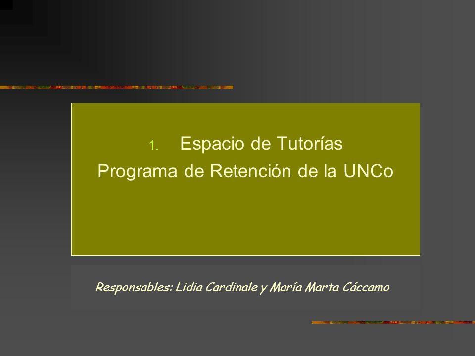 Programa de Retención de la UNCo