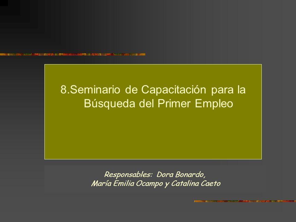 8.Seminario de Capacitación para la Búsqueda del Primer Empleo