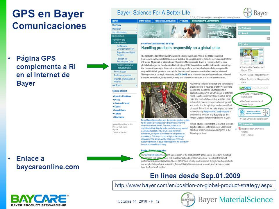 GPS en Bayer Comunicaciones