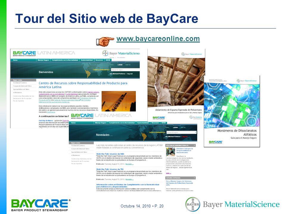 Tour del Sitio web de BayCare