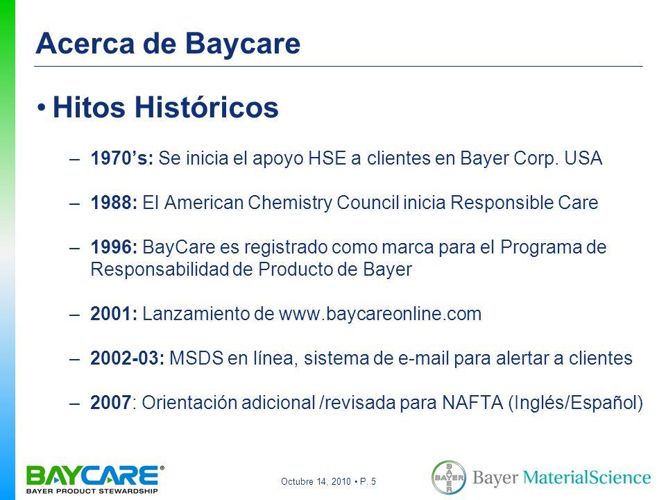 Acerca de Baycare Hitos Históricos
