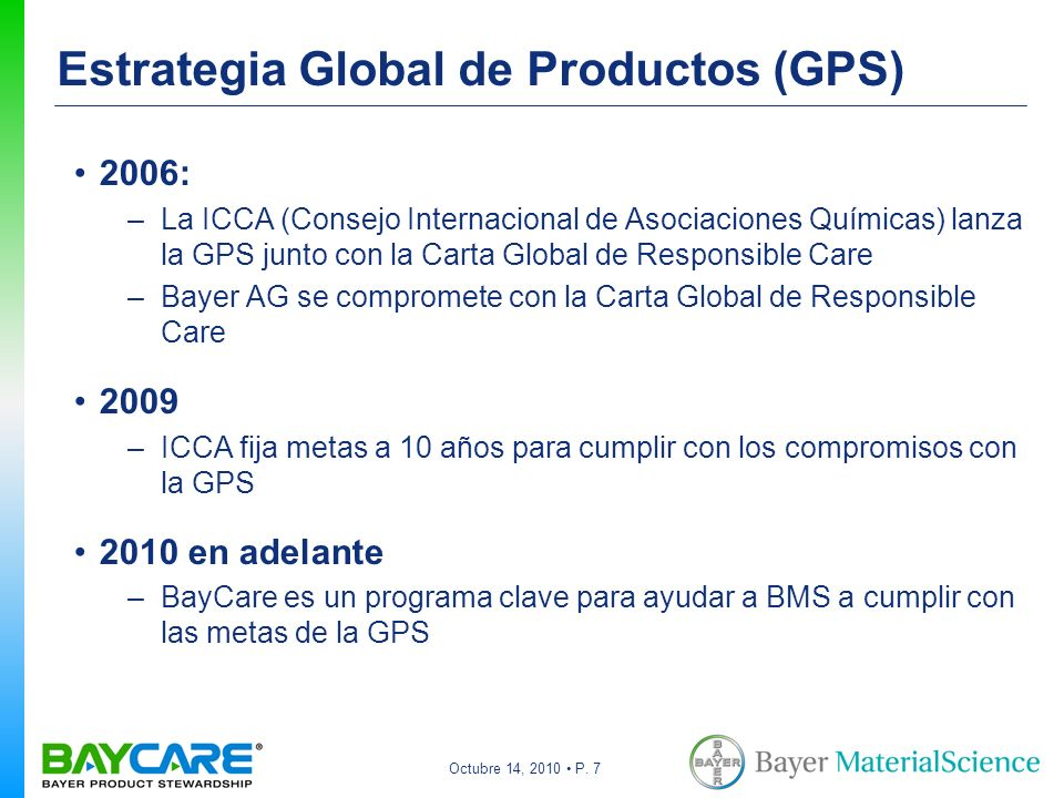 Estrategia Global de Productos (GPS)