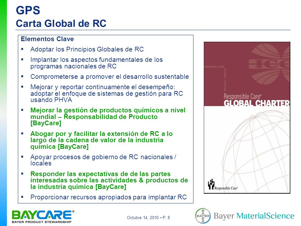 GPS Carta Global de RC Elementos Clave