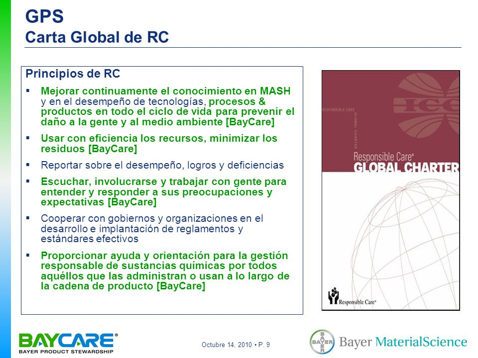 GPS Carta Global de RC Principios de RC