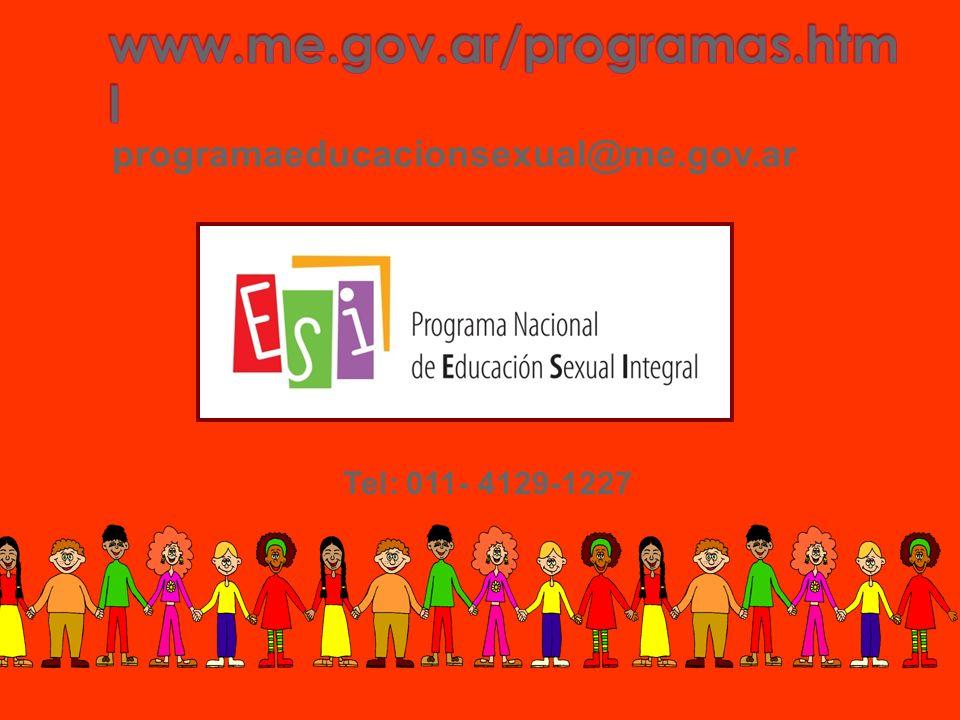 www.me.gov.ar/programas.html programaeducacionsexual@me.gov.ar