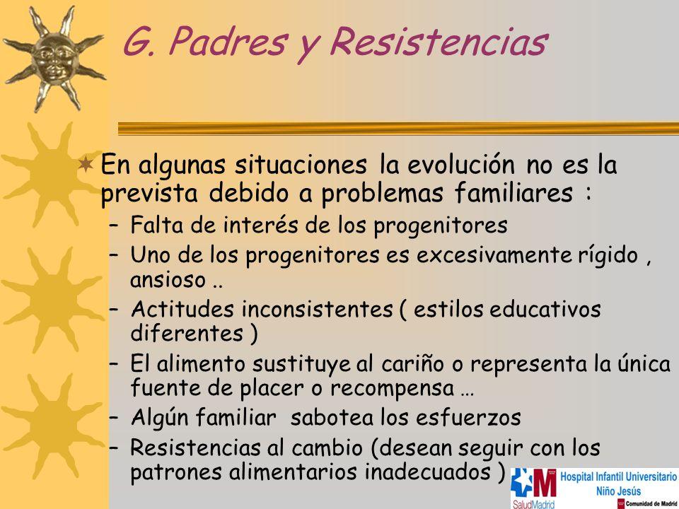 G. Padres y Resistencias