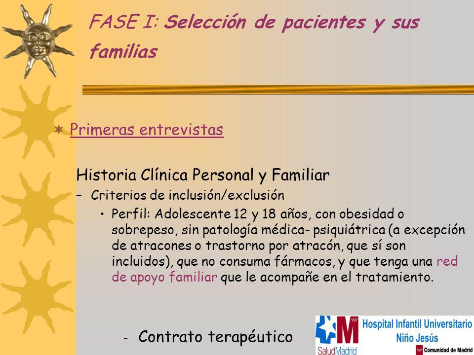 FASE I: Selección de pacientes y sus familias
