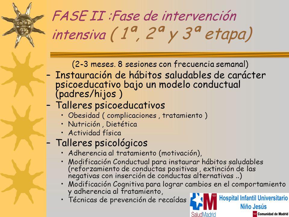 FASE II :Fase de intervención intensiva ( 1ª, 2ª y 3ª etapa)